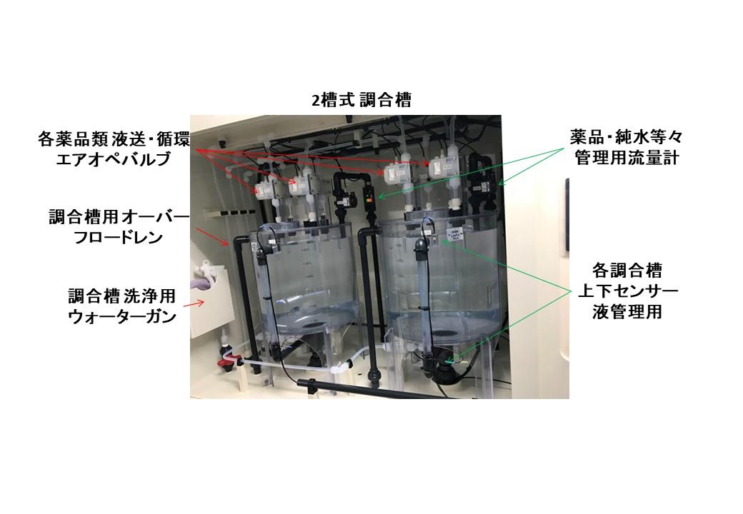 薬供装置2槽式調合槽